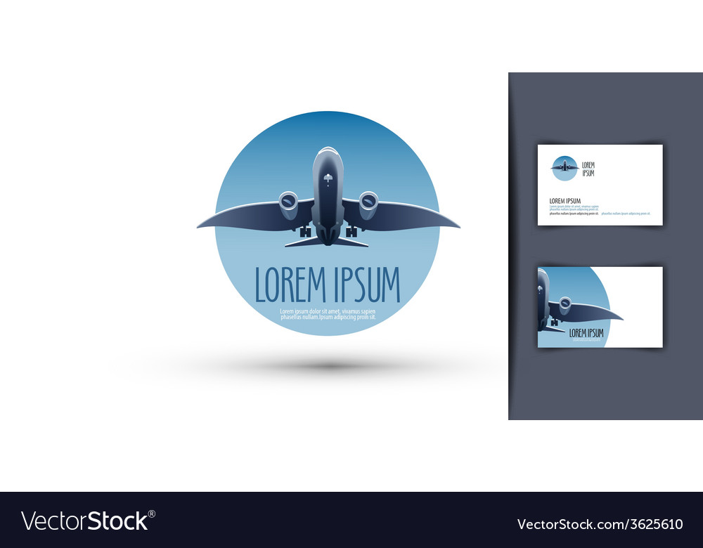 Airplane logo design template journey or travel vector   Price: 1 Credit (USD $1)