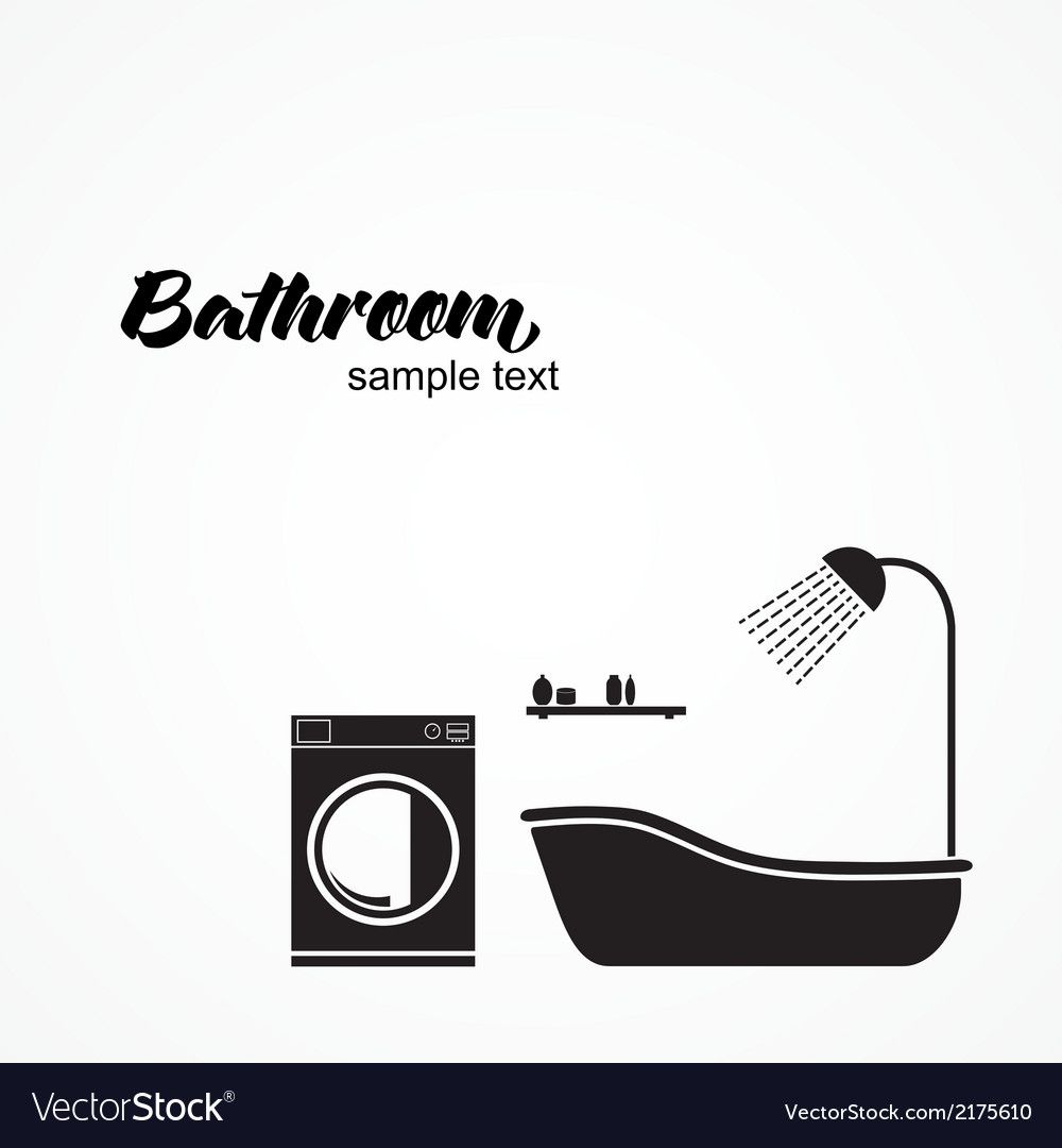 Bathroom interior vector | Price: 1 Credit (USD $1)