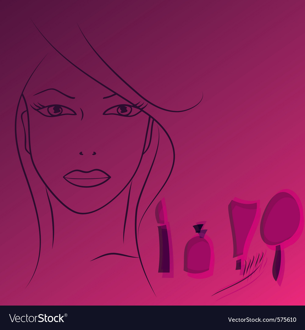 Beauty face woman vector | Price: 1 Credit (USD $1)
