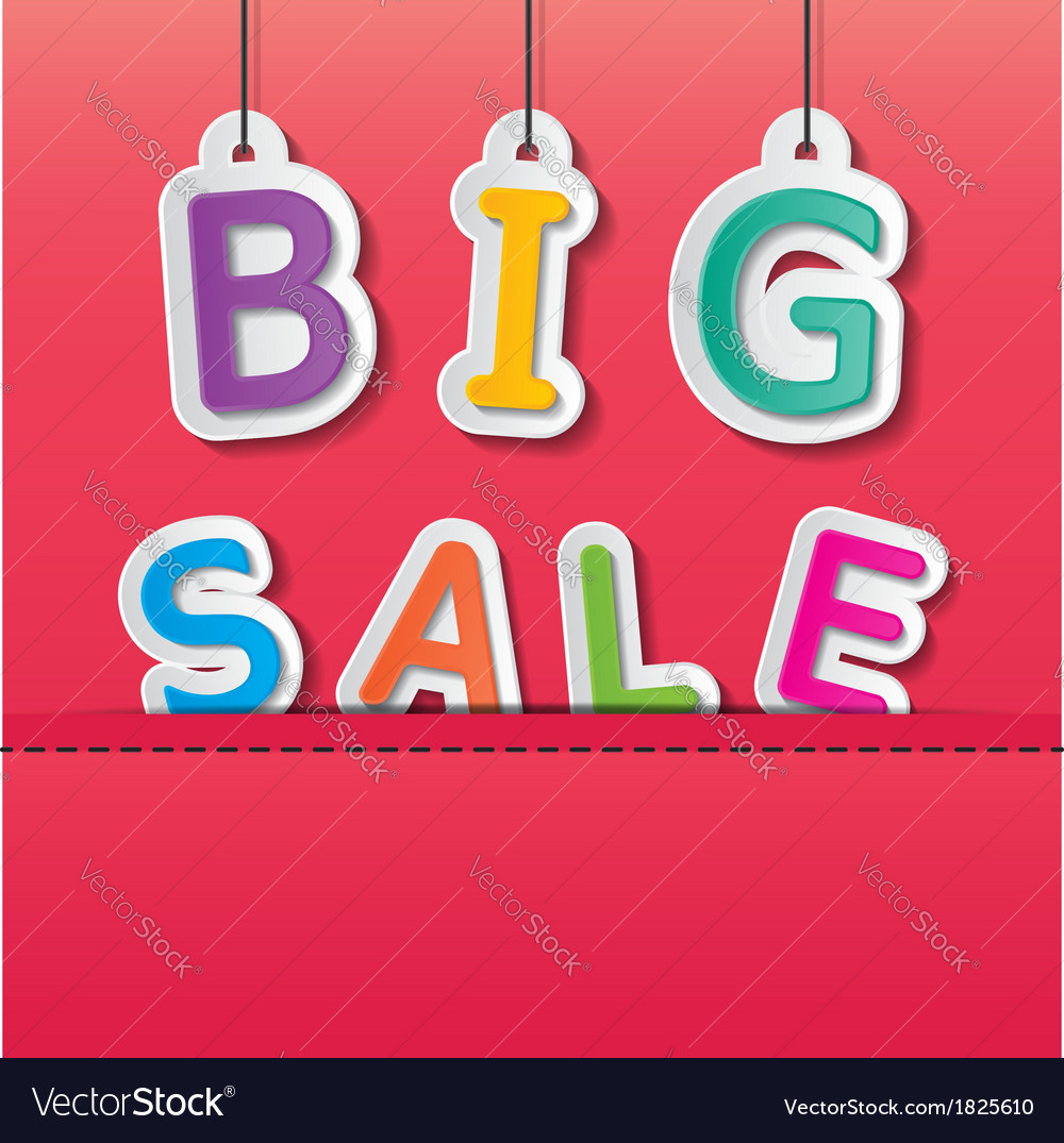 Big sale tag vector | Price: 1 Credit (USD $1)