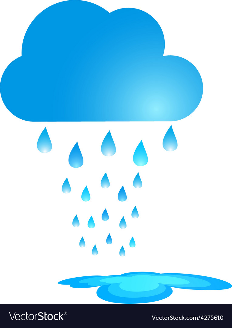 Blue rain cloud vector | Price: 1 Credit (USD $1)