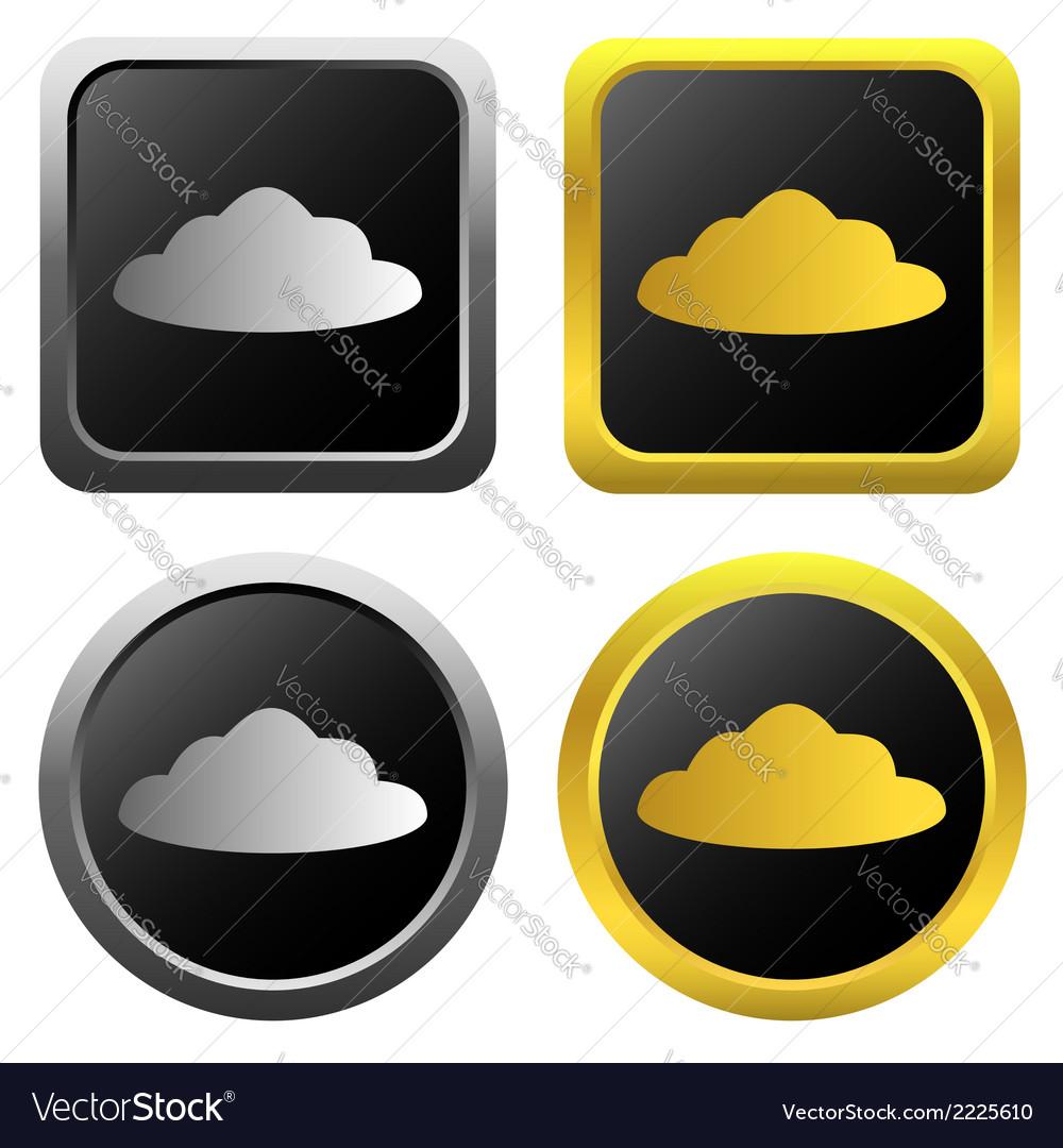 Cloud icon set vector | Price: 1 Credit (USD $1)