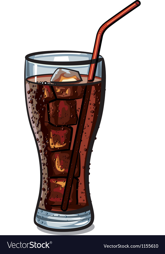 Glass of cola vector | Price: 3 Credit (USD $3)