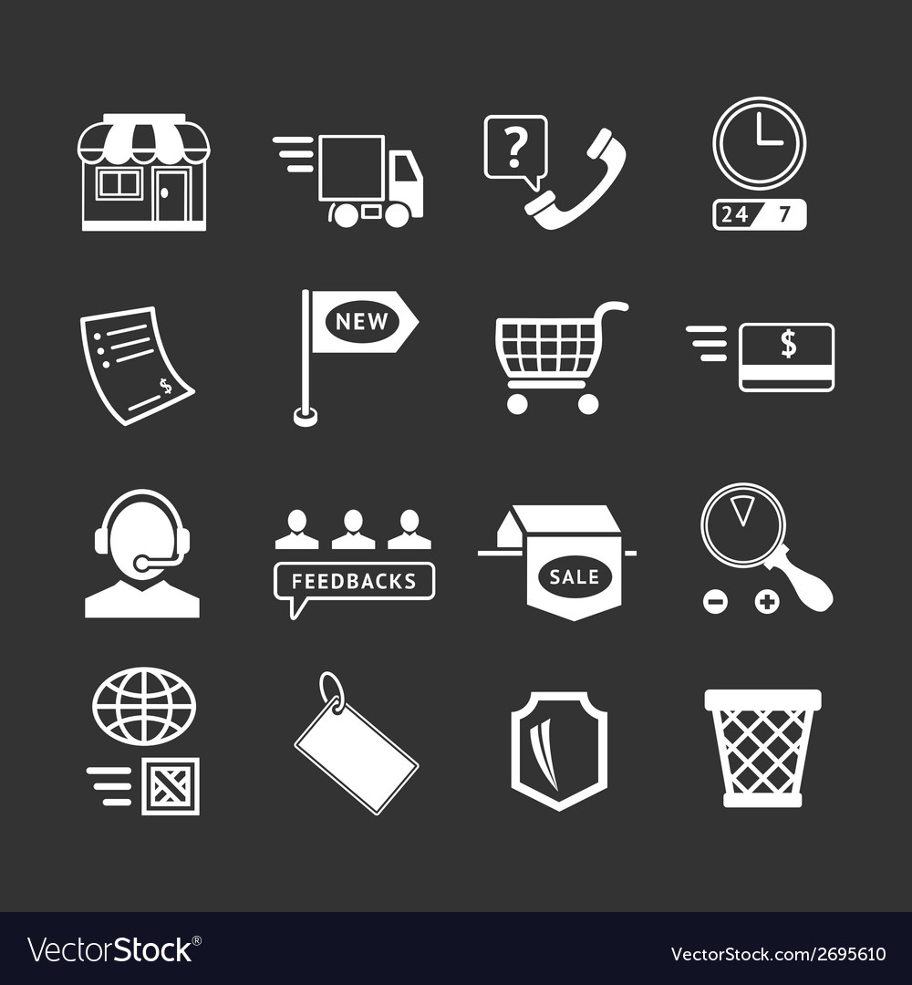 Set icons of shopping and e-commerce vector | Price: 1 Credit (USD $1)