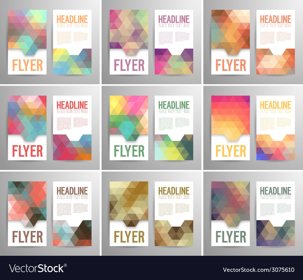 Set of abstract flyer template vector | Price: 1 Credit (USD $1)