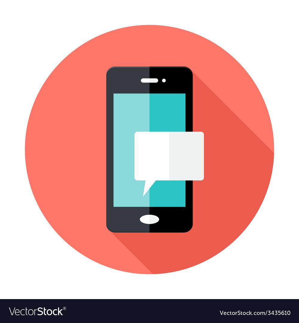 Smartphone notification flat circle icon vector   Price: 1 Credit (USD $1)