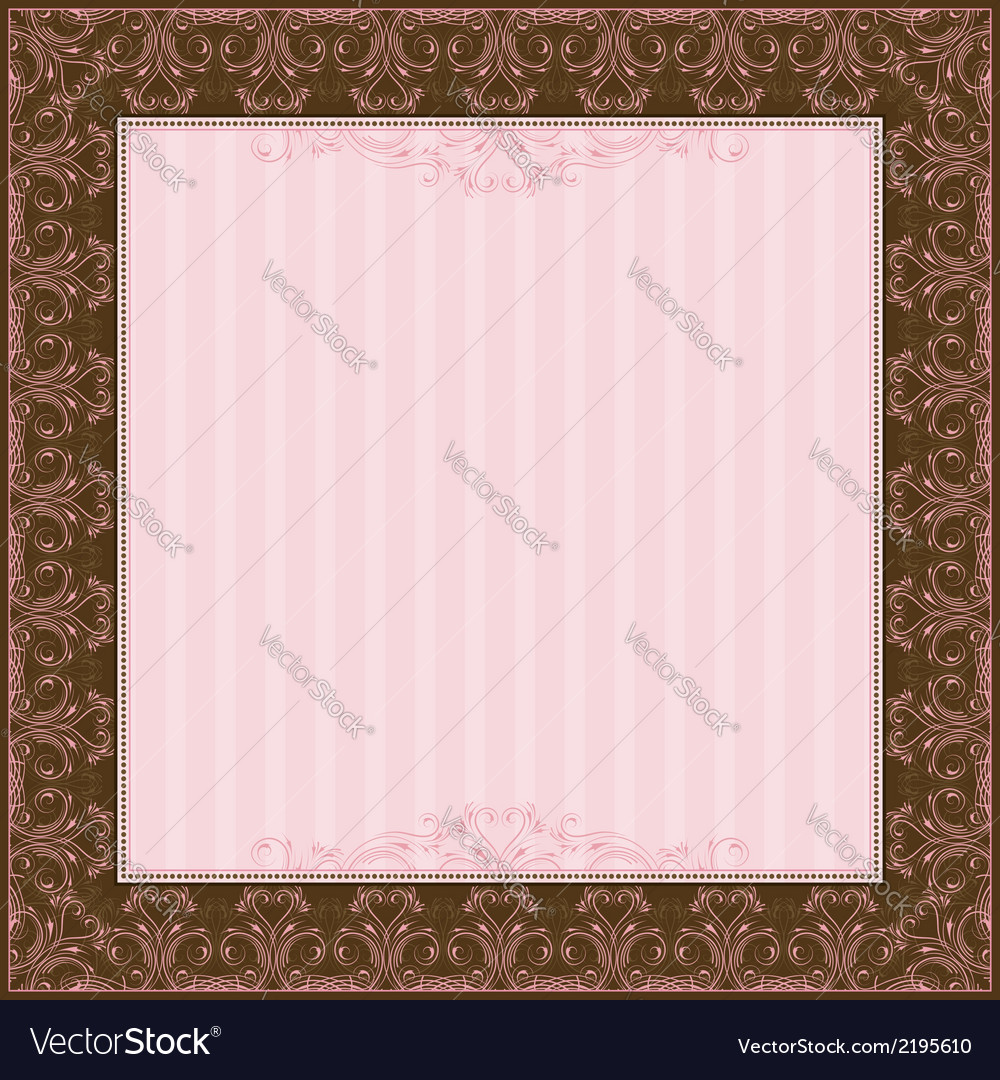 Square pink background with decorative ornate vector | Price: 1 Credit (USD $1)