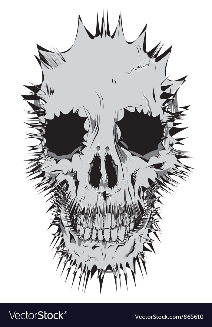 Stylized skull vector | Price: 1 Credit (USD $1)