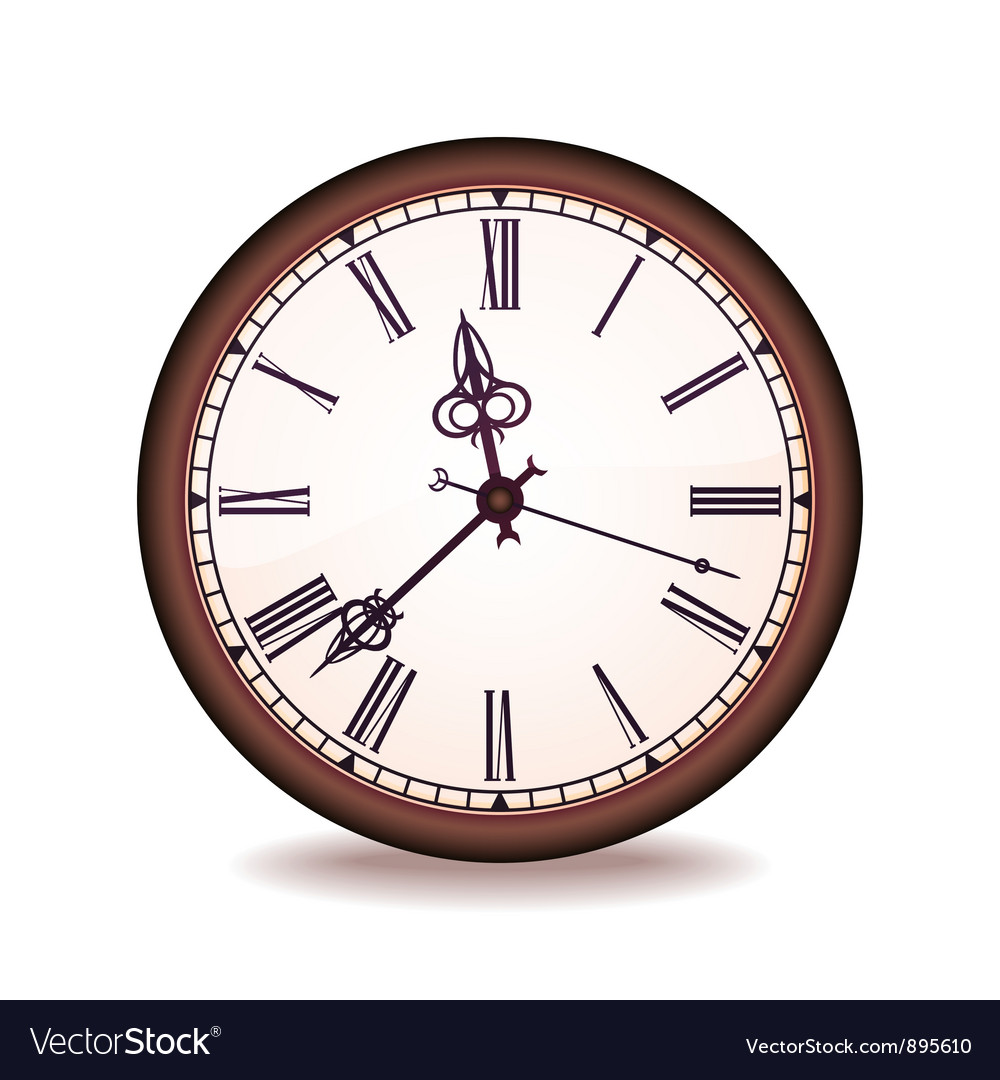 Vintage wall clock vector | Price: 1 Credit (USD $1)