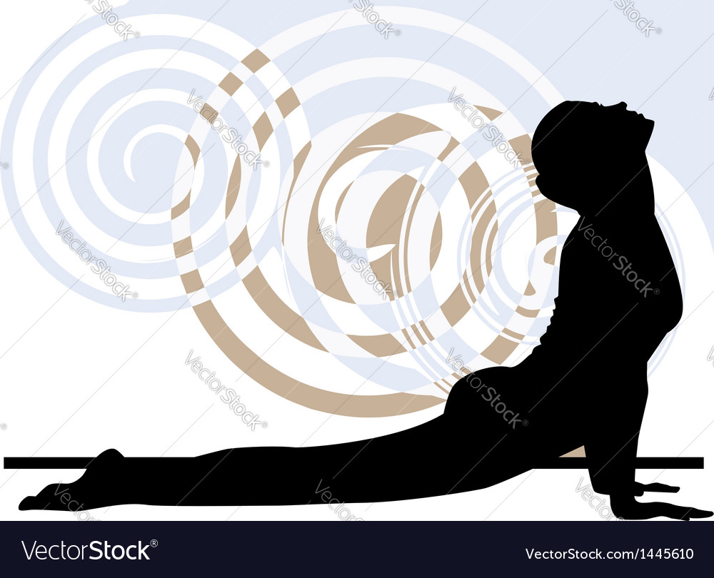 Woman meditating and doing yoga vector | Price: 1 Credit (USD $1)