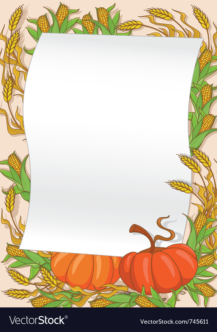 Autumn and pumpkin background vector | Price: 1 Credit (USD $1)