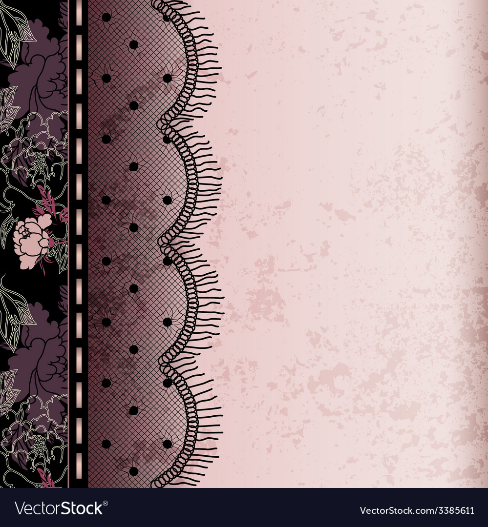 Background with lace fringe vector | Price: 1 Credit (USD $1)
