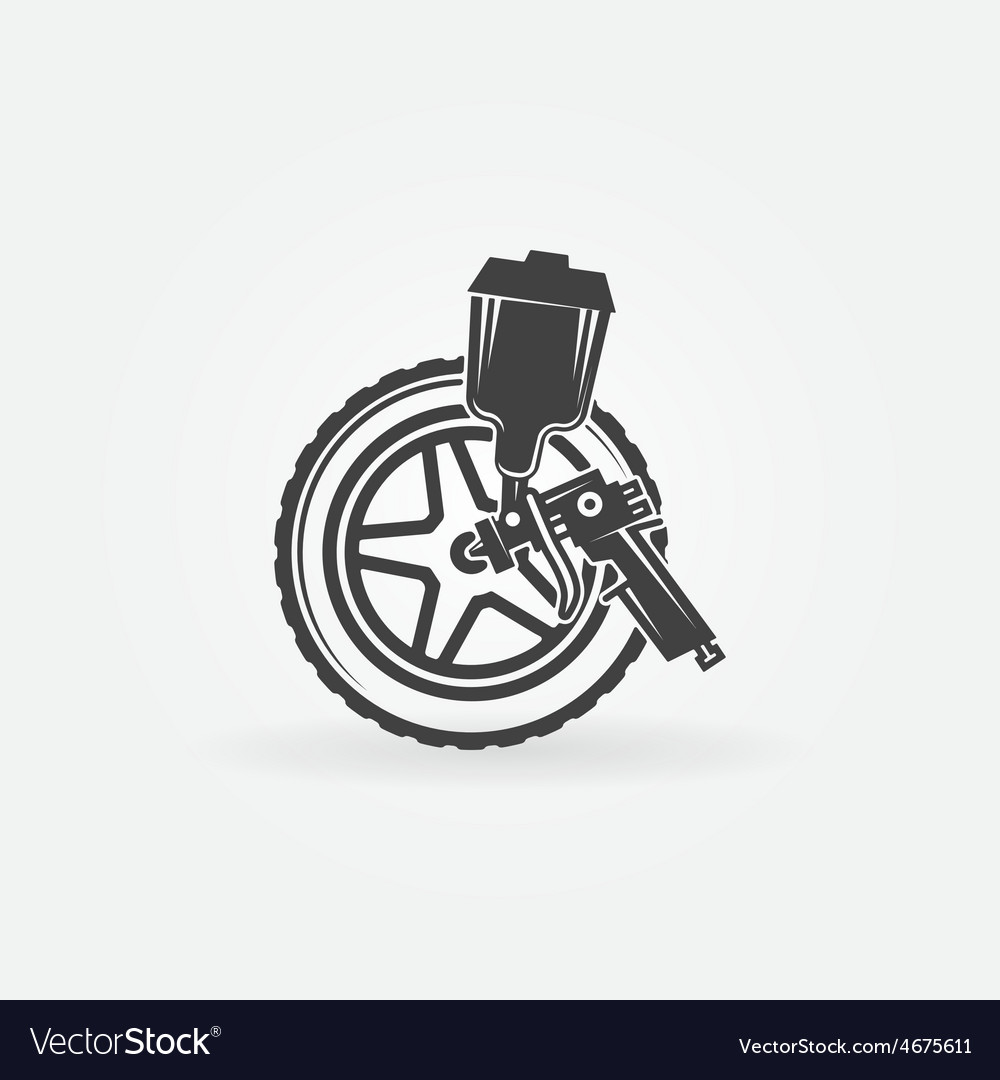Car wheel paint vector | Price: 1 Credit (USD $1)