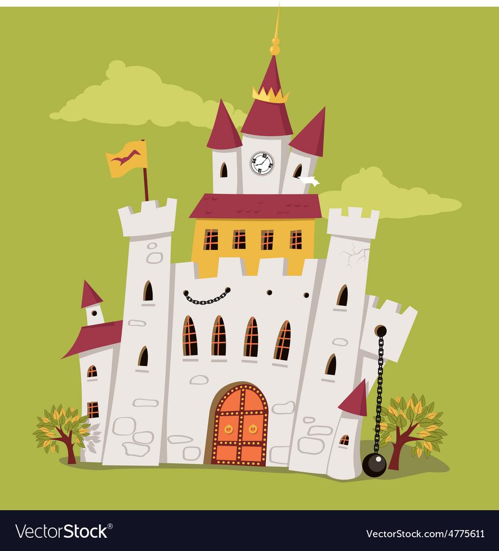 Cartoon castle vector | Price: 1 Credit (USD $1)