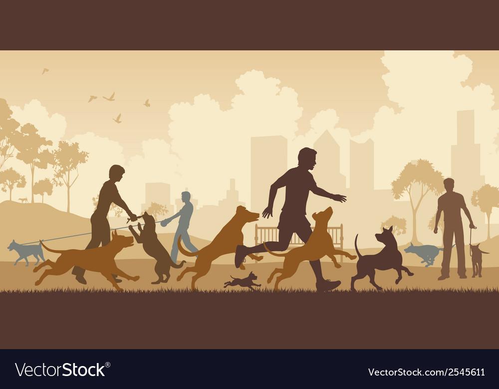 Dog park vector | Price: 1 Credit (USD $1)