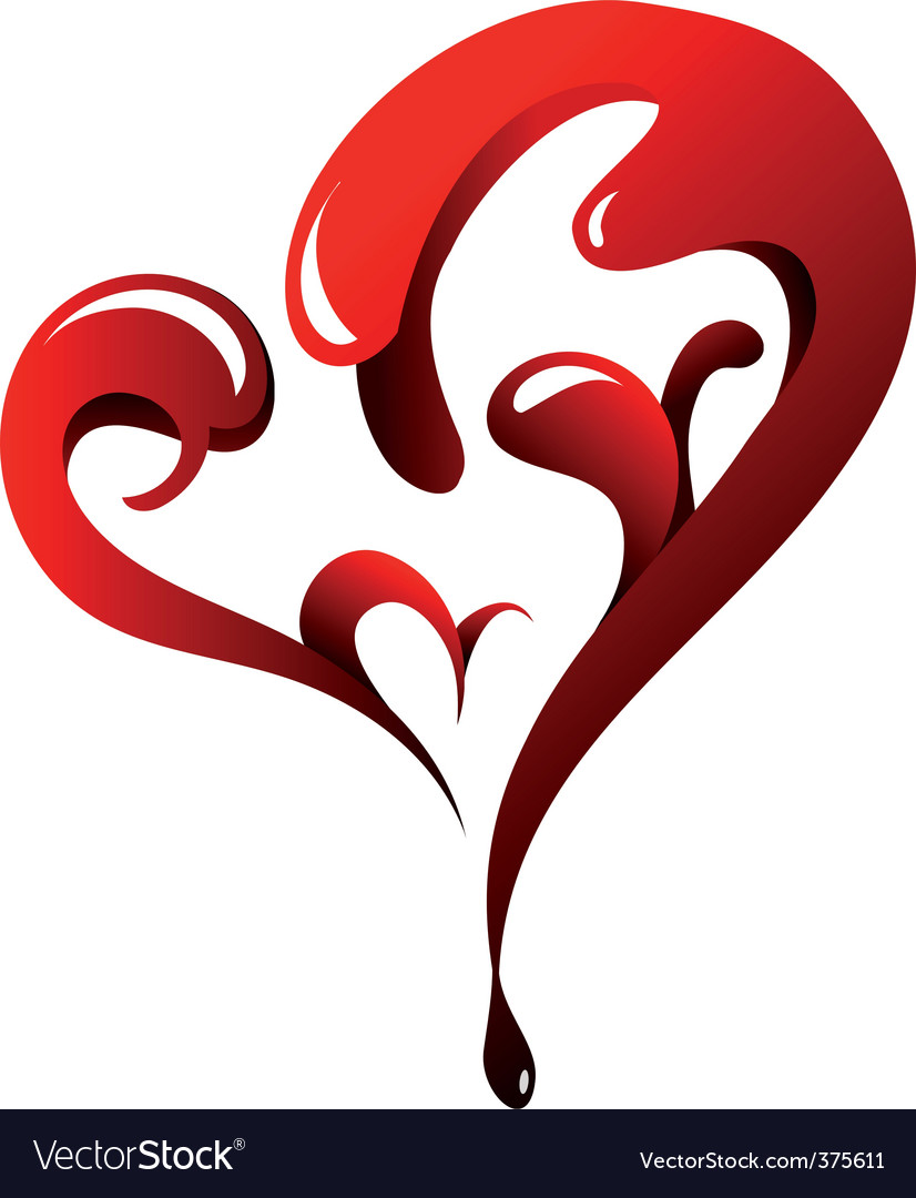 Dripping heart vector | Price: 1 Credit (USD $1)