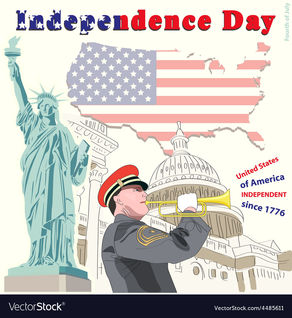 The fourth of july independence day vector | Price: 3 Credit (USD $3)