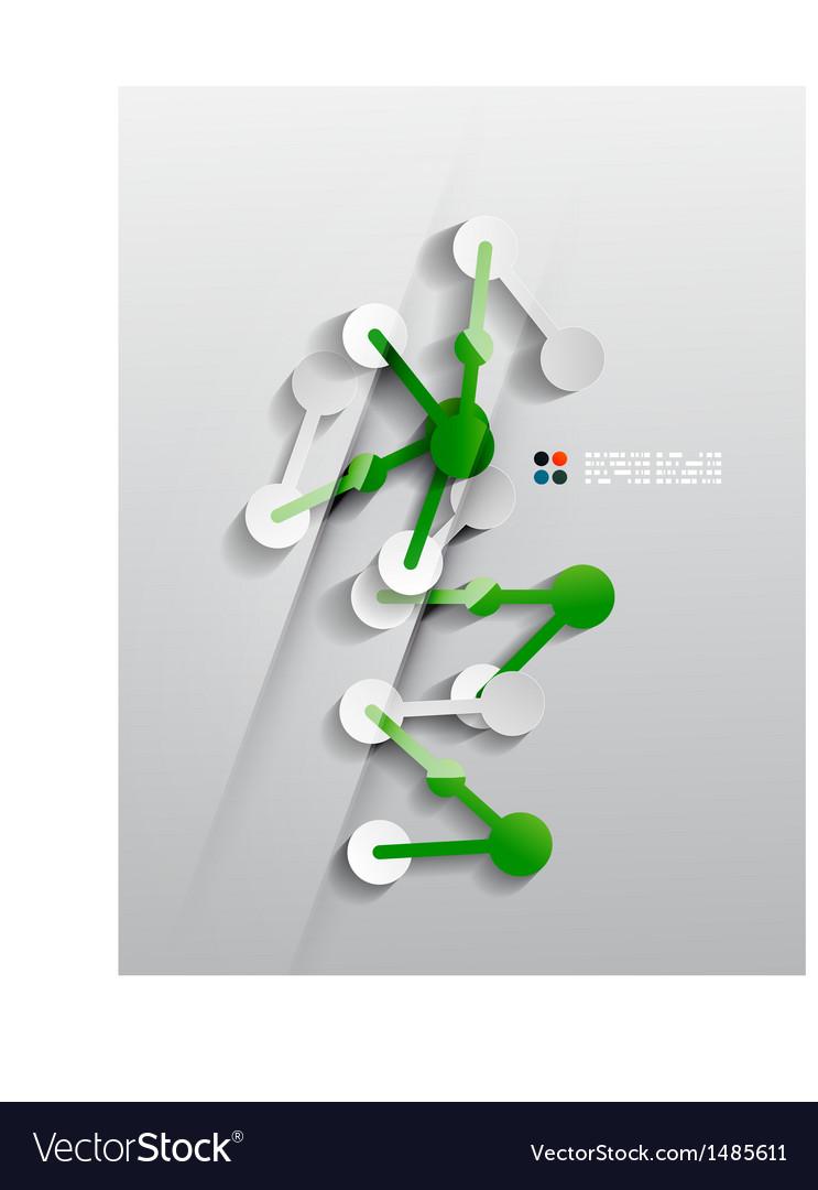 Line connection 3d paper design vector | Price: 1 Credit (USD $1)