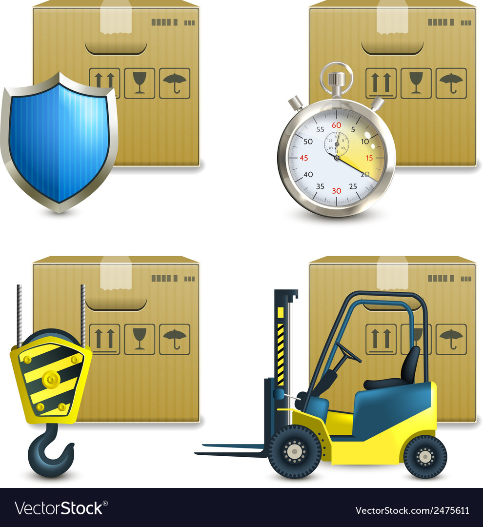 Logistic icons set vector | Price: 3 Credit (USD $3)