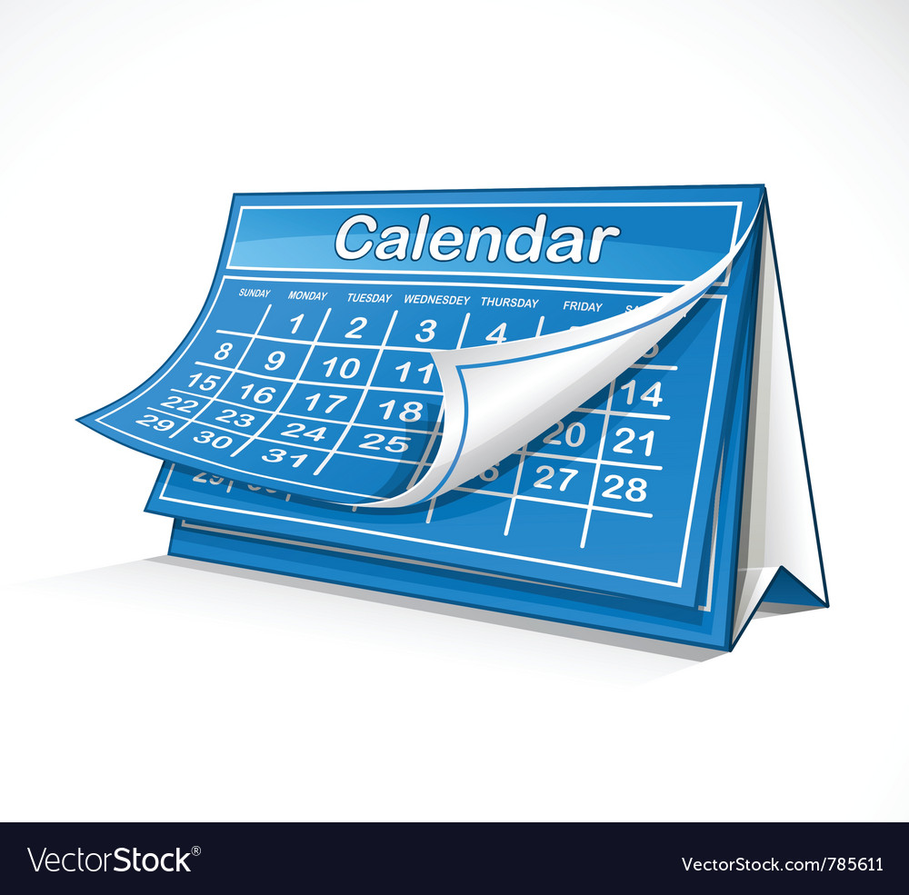 Monthly calendar vector | Price: 3 Credit (USD $3)