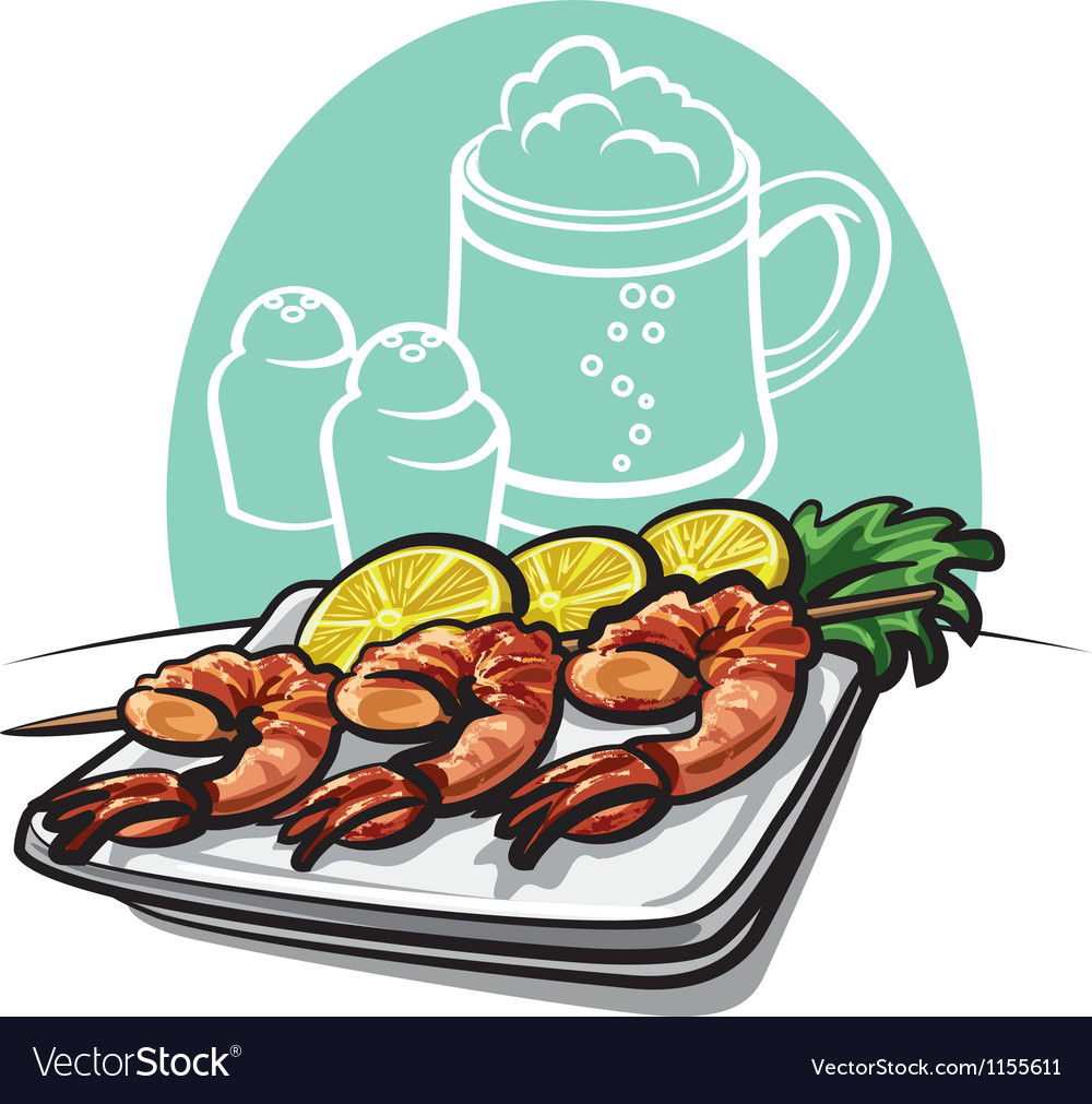 Shrimp grilled vector | Price: 3 Credit (USD $3)