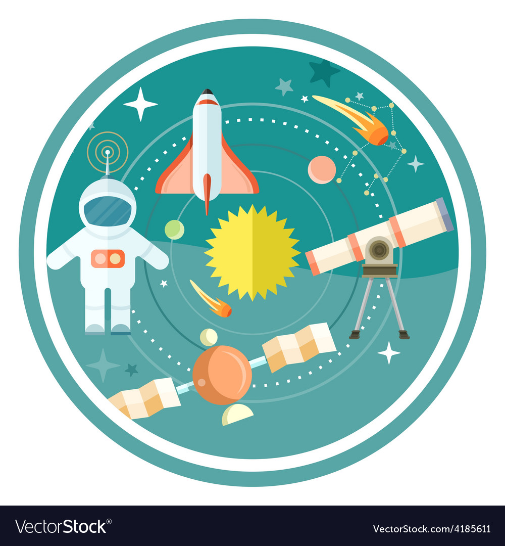 Space and astronomy vector | Price: 1 Credit (USD $1)
