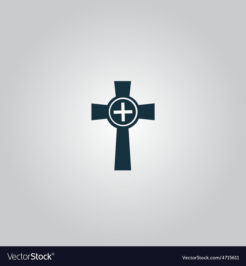 Tombstone - cross gravestone icon vector | Price: 1 Credit (USD $1)