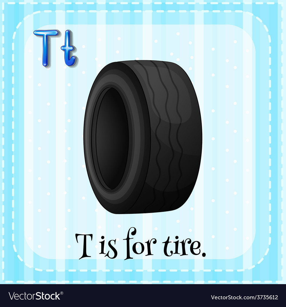 A letter t for tire vector | Price: 1 Credit (USD $1)