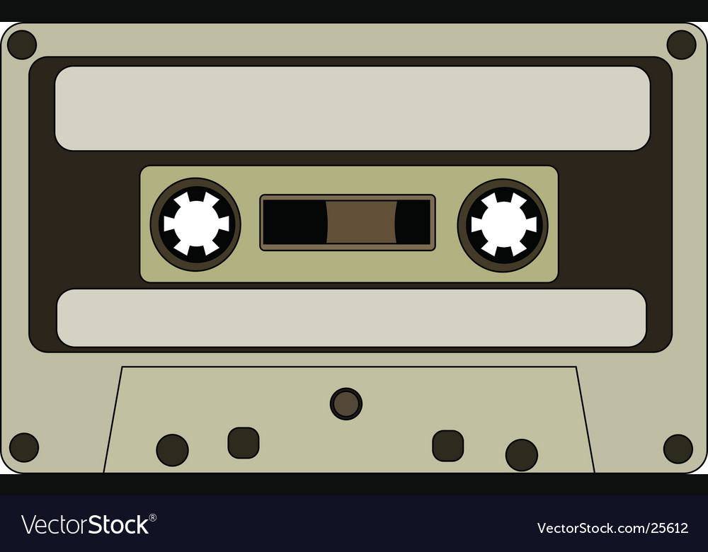 Audio tape vector | Price: 1 Credit (USD $1)