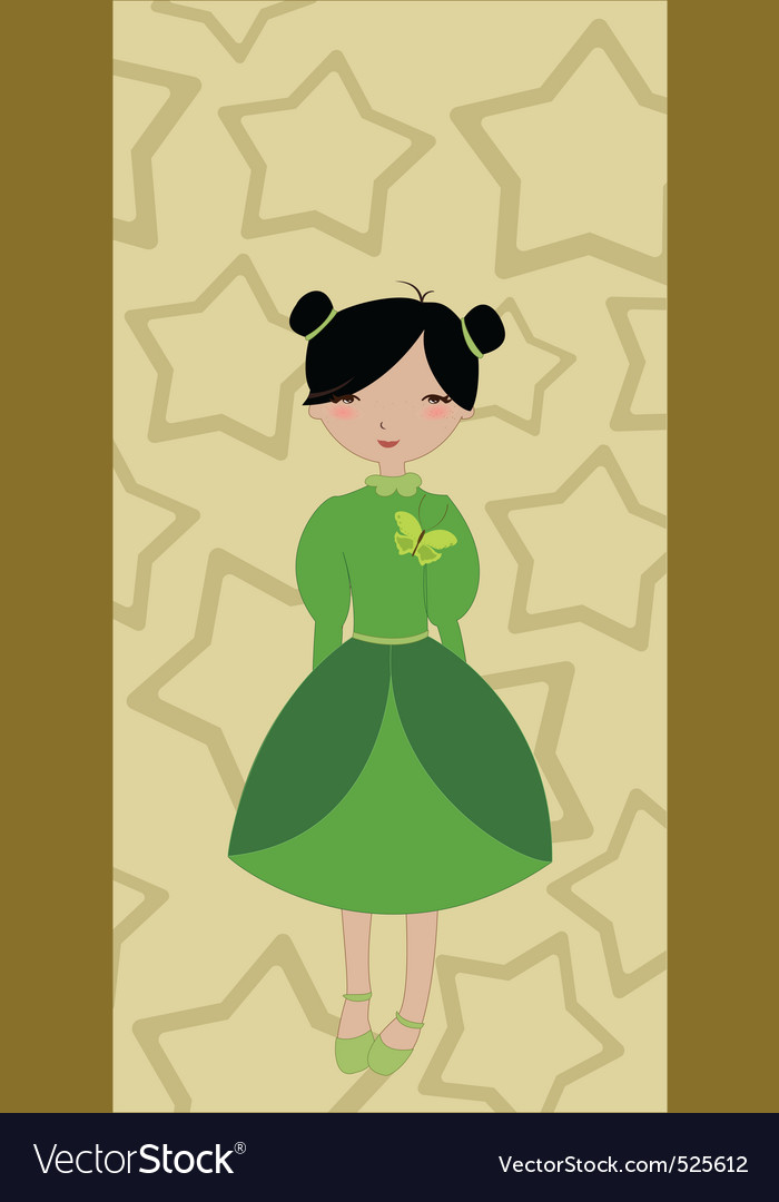 Beautiful little girl on the stars background vector   Price: 1 Credit (USD $1)