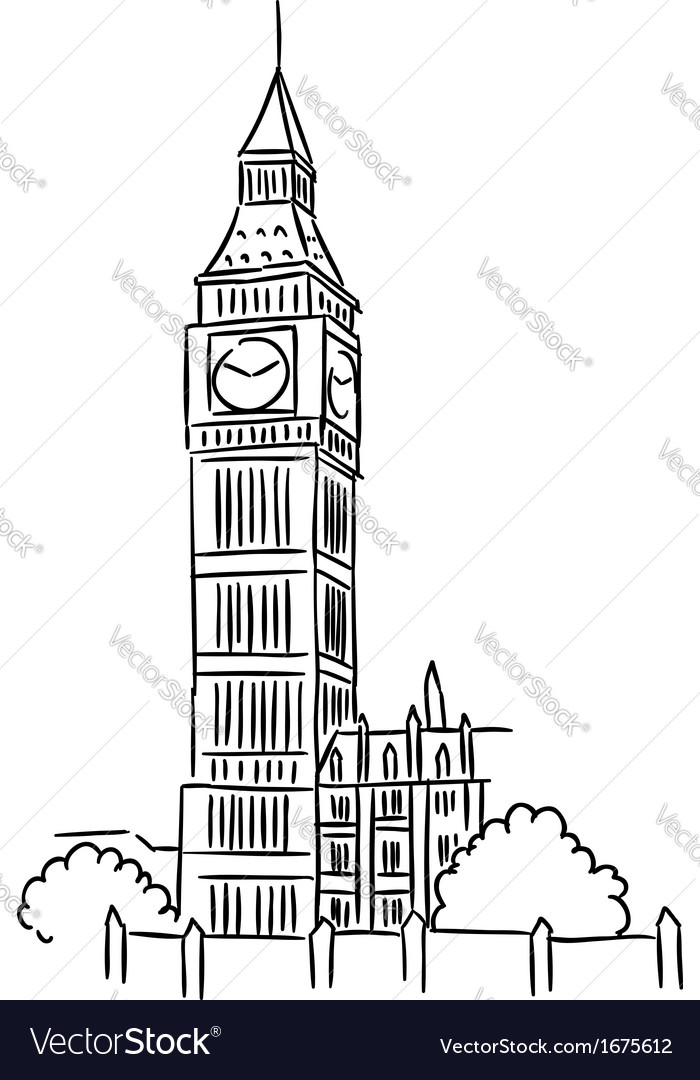 Big ben in london vector | Price: 1 Credit (USD $1)