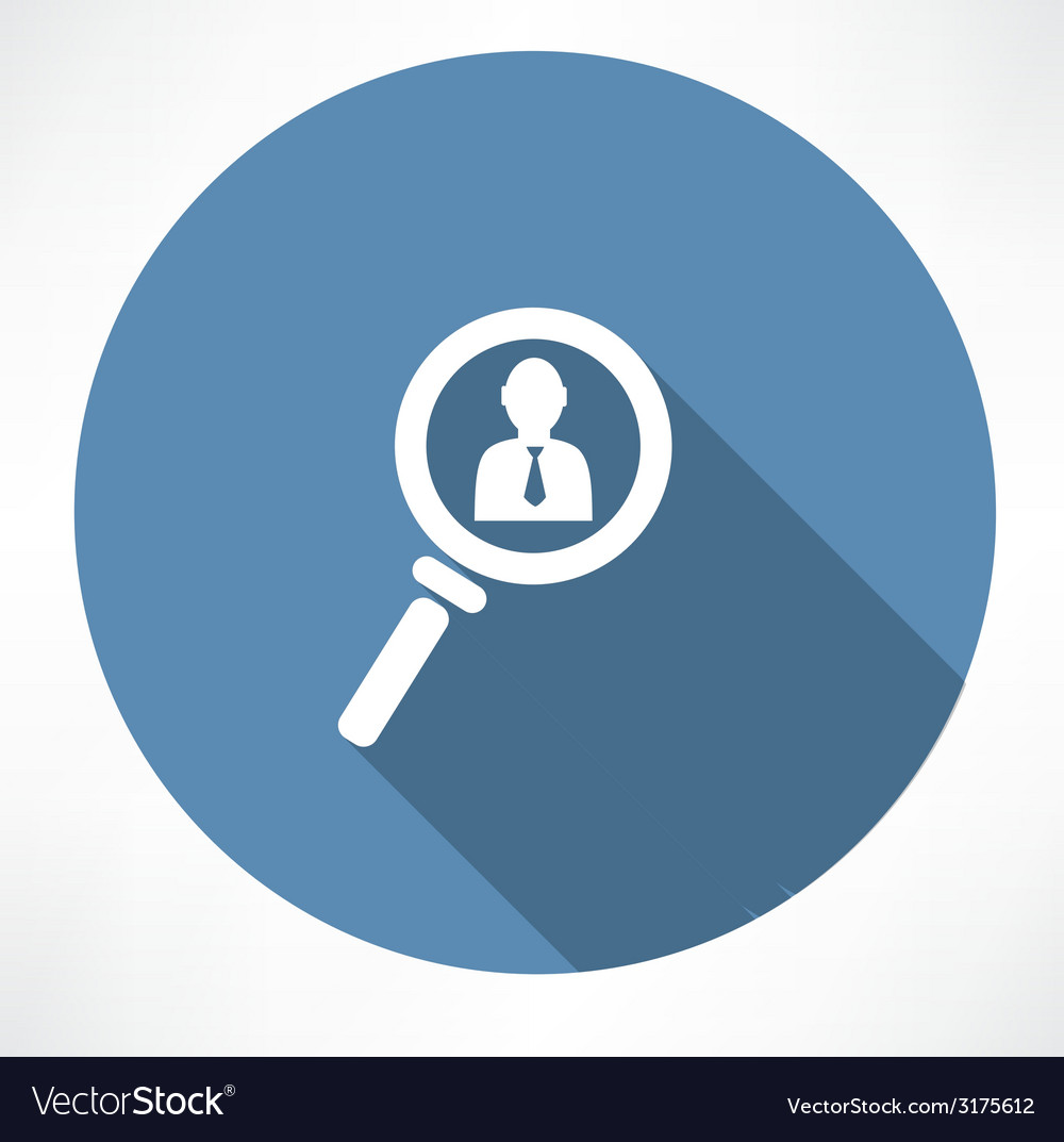 Businessman in the magnifying glass icon vector | Price: 1 Credit (USD $1)