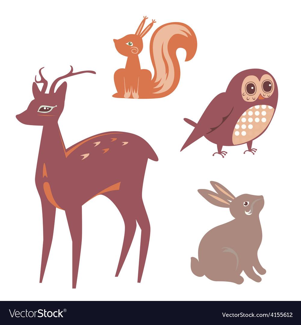 Cute animals set vector   Price: 1 Credit (USD $1)