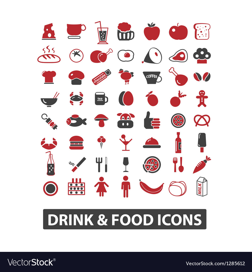 Drink  food icons set vector | Price: 1 Credit (USD $1)