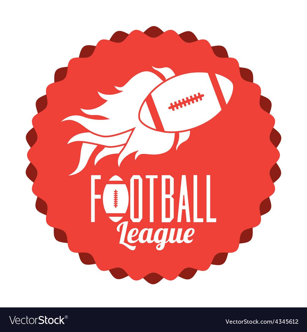 Football design vector | Price: 1 Credit (USD $1)