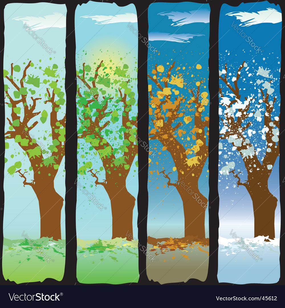 Four seasons vector | Price:  Credit (USD $)