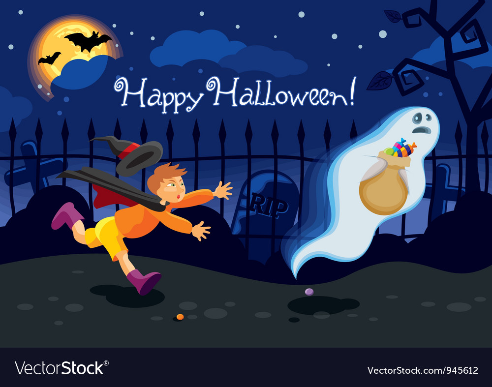Halloween card vector | Price: 3 Credit (USD $3)