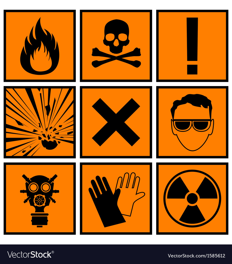 Icons warning of danger vector   Price: 1 Credit (USD $1)