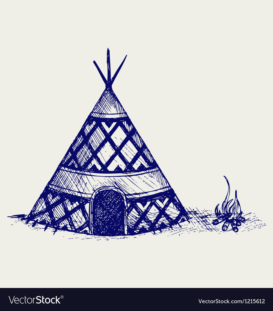 Indian tepee vector | Price: 1 Credit (USD $1)