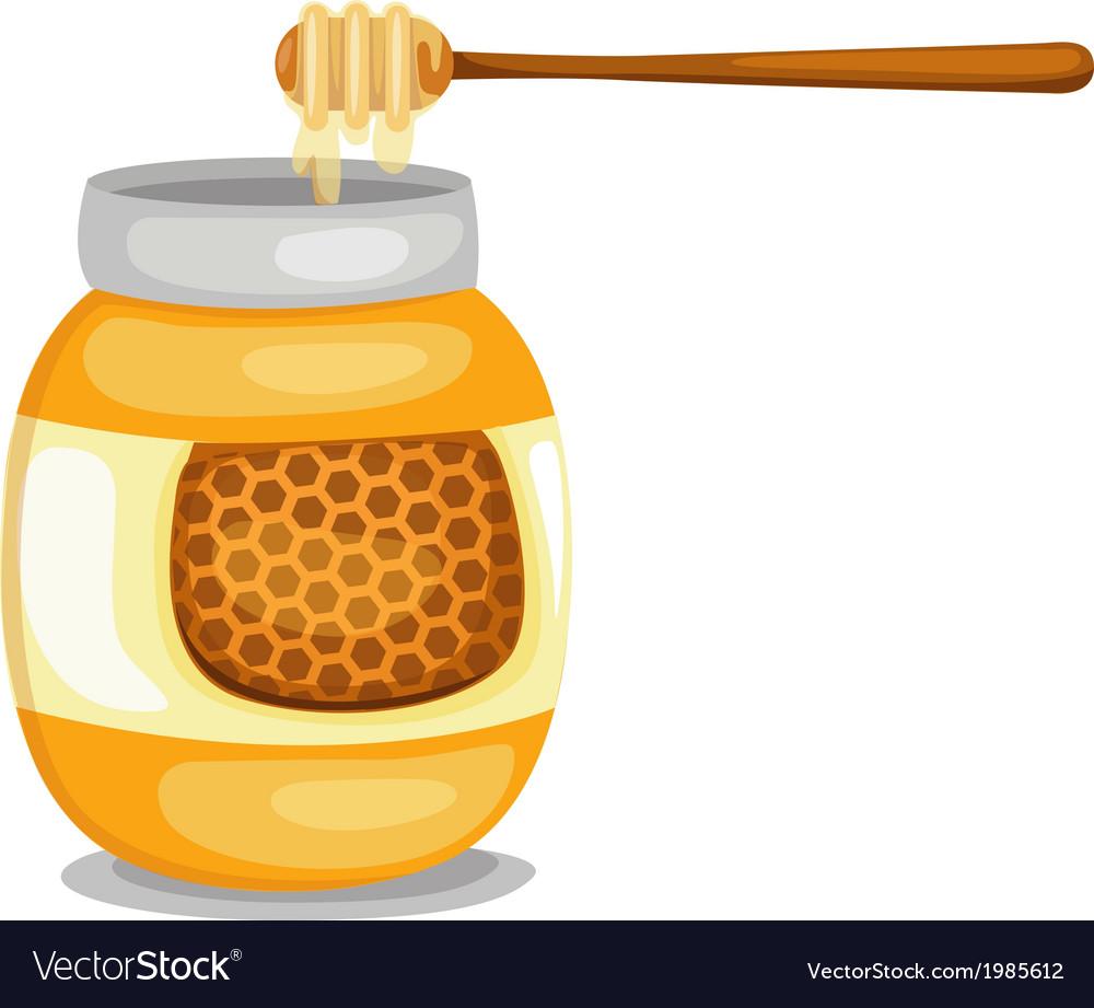 Jar with honey vector | Price: 1 Credit (USD $1)