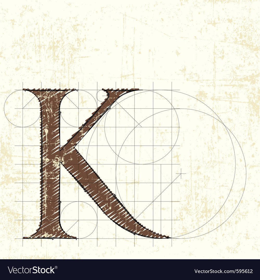 Letter k vector | Price: 1 Credit (USD $1)