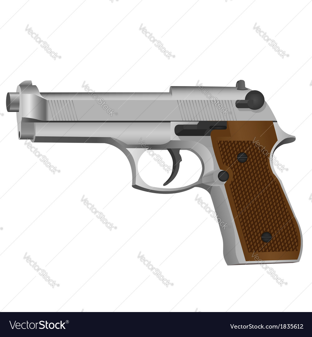 Semi-automatic gun vector | Price: 1 Credit (USD $1)