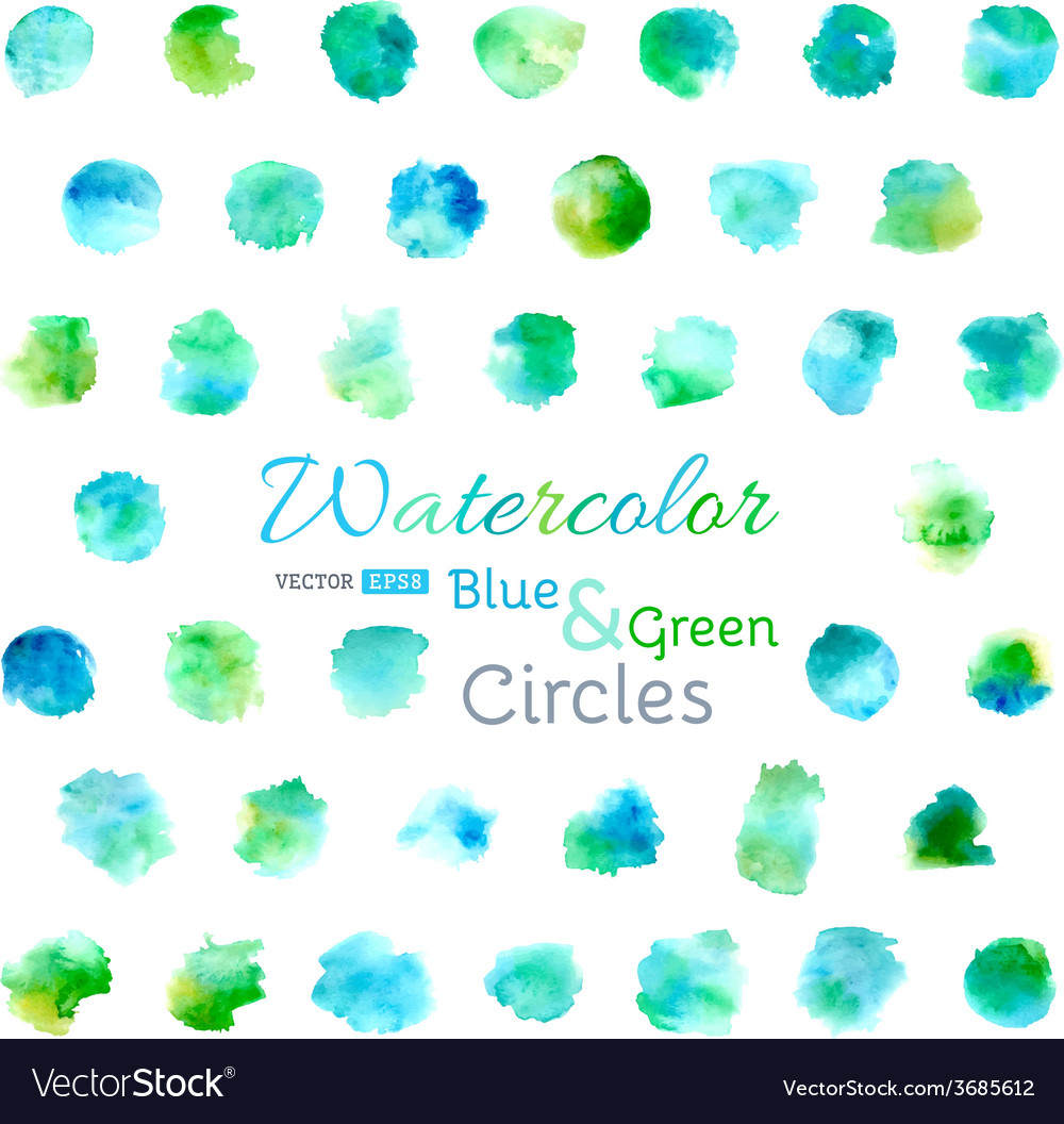 Set of watercolor circles vector | Price: 1 Credit (USD $1)