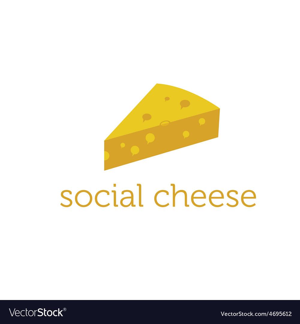 Social cheese concept design template vector | Price: 1 Credit (USD $1)