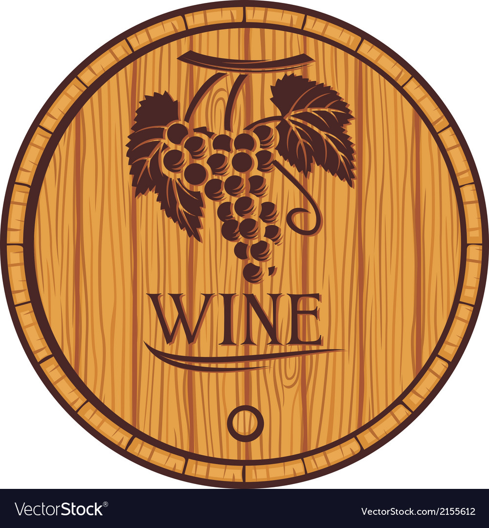 Wooden barrel for wine vector | Price: 1 Credit (USD $1)