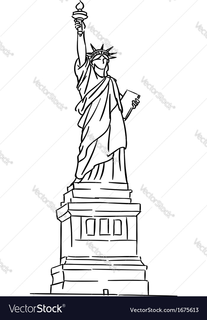 American statue of liberty vector | Price: 1 Credit (USD $1)