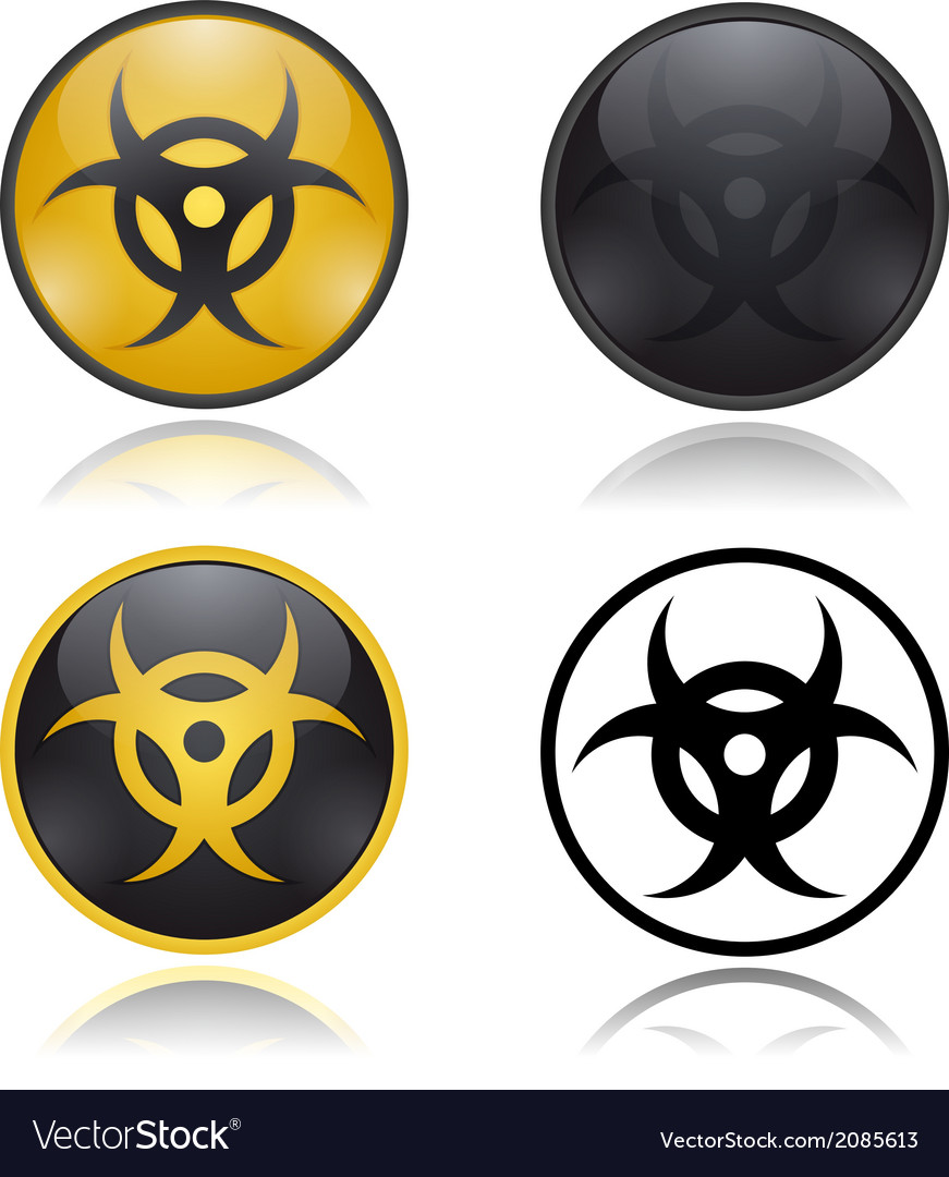 Bio hazard warning sign vector | Price: 1 Credit (USD $1)
