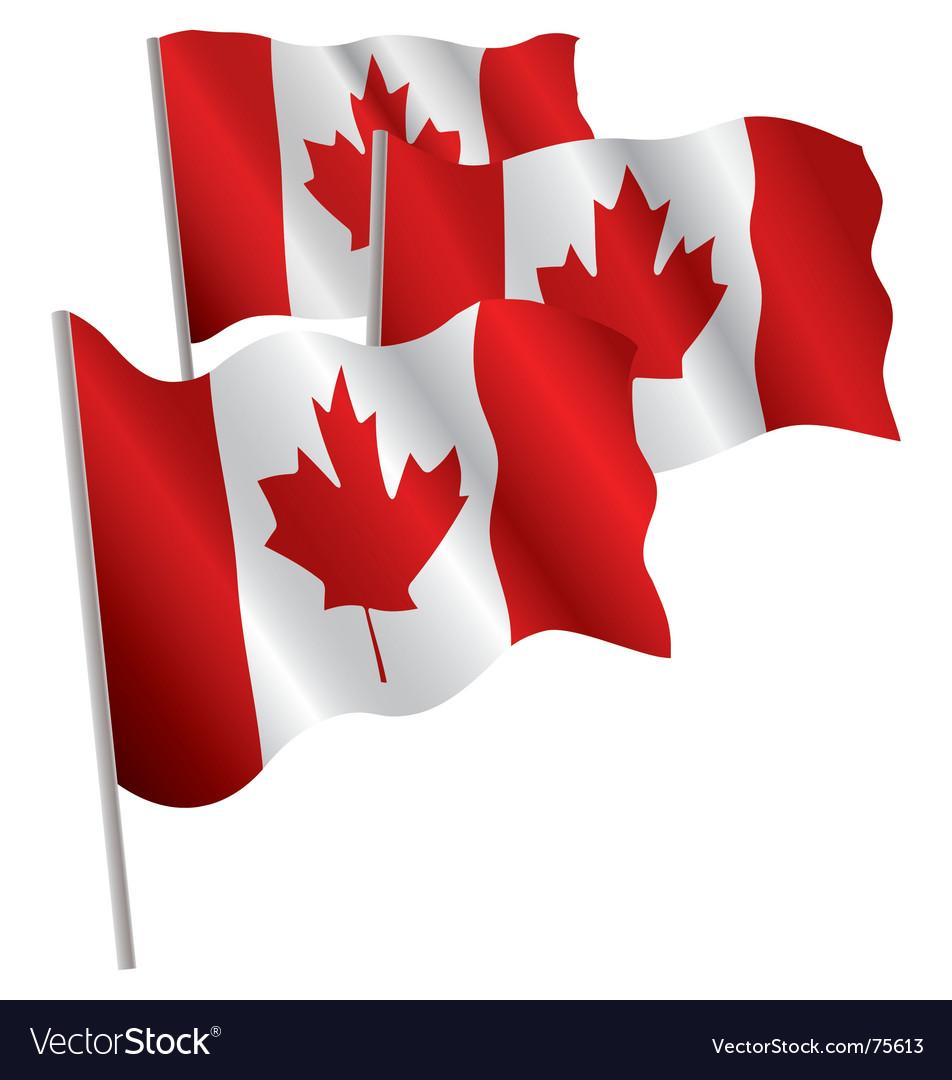 Canada 3d flag vector | Price: 1 Credit (USD $1)