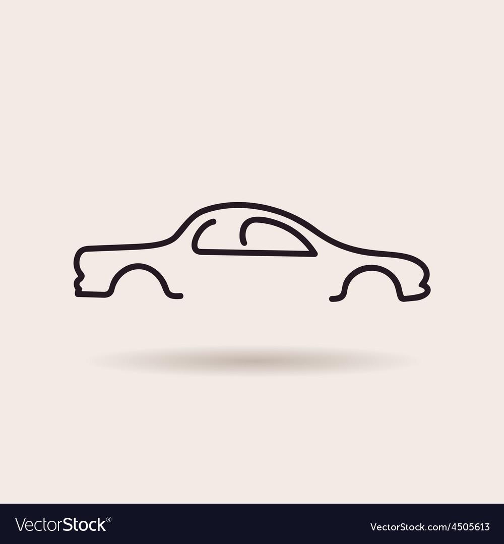 Car logo contour line silhouette icon vector | Price: 1 Credit (USD $1)