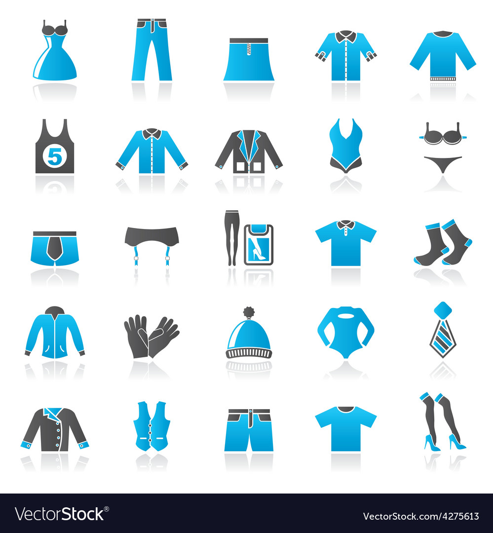 Clothing and fashion collection icons vector | Price: 1 Credit (USD $1)